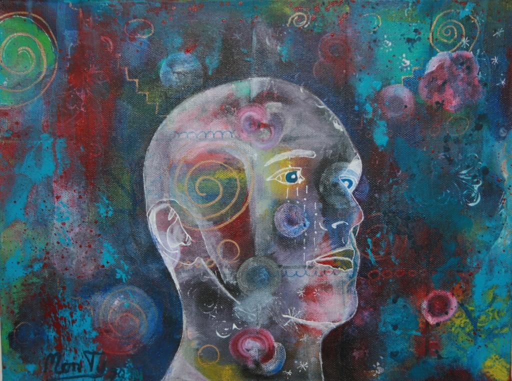 Brainstorm Acryl auf Leinwand 40x30cm